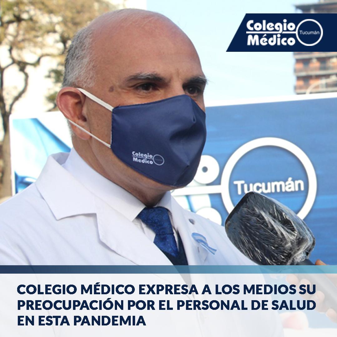 Lee más sobre el artículo Colegio Médico expresa a los medios su preocupación por el Personal de Salud en esta Pandemia