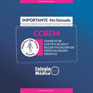 CCREM – Ajustes en cronograma 4to llamado