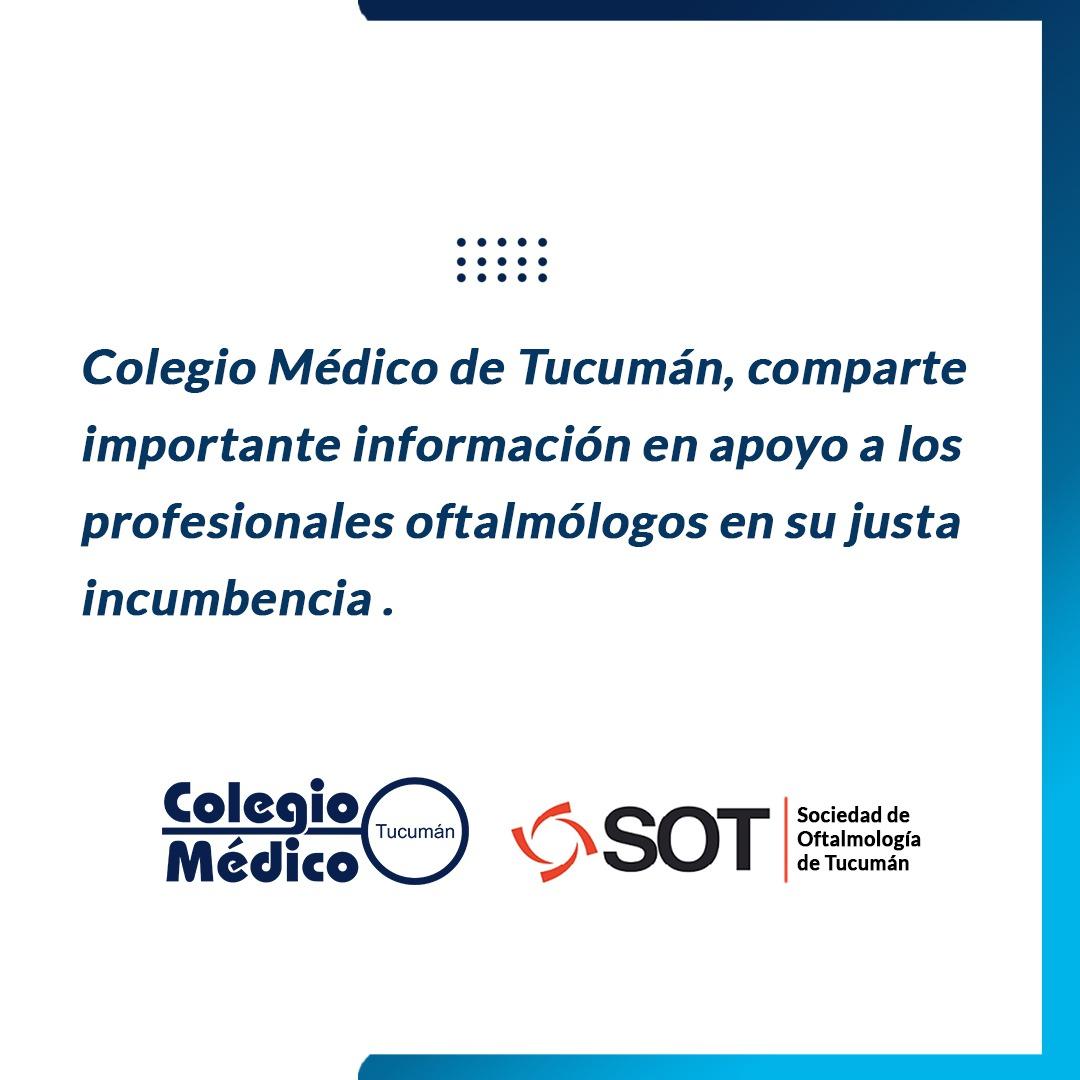 Lee más sobre el artículo Comunicado Sociedad de Oftalmología de Tucumán